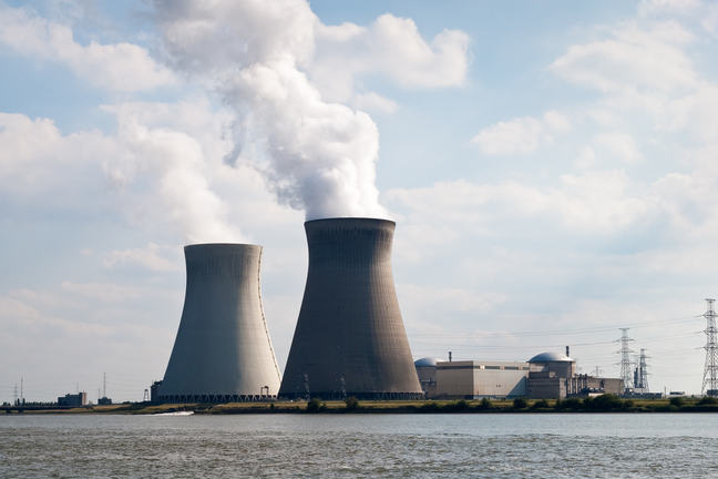 Nuclear Power plant towers