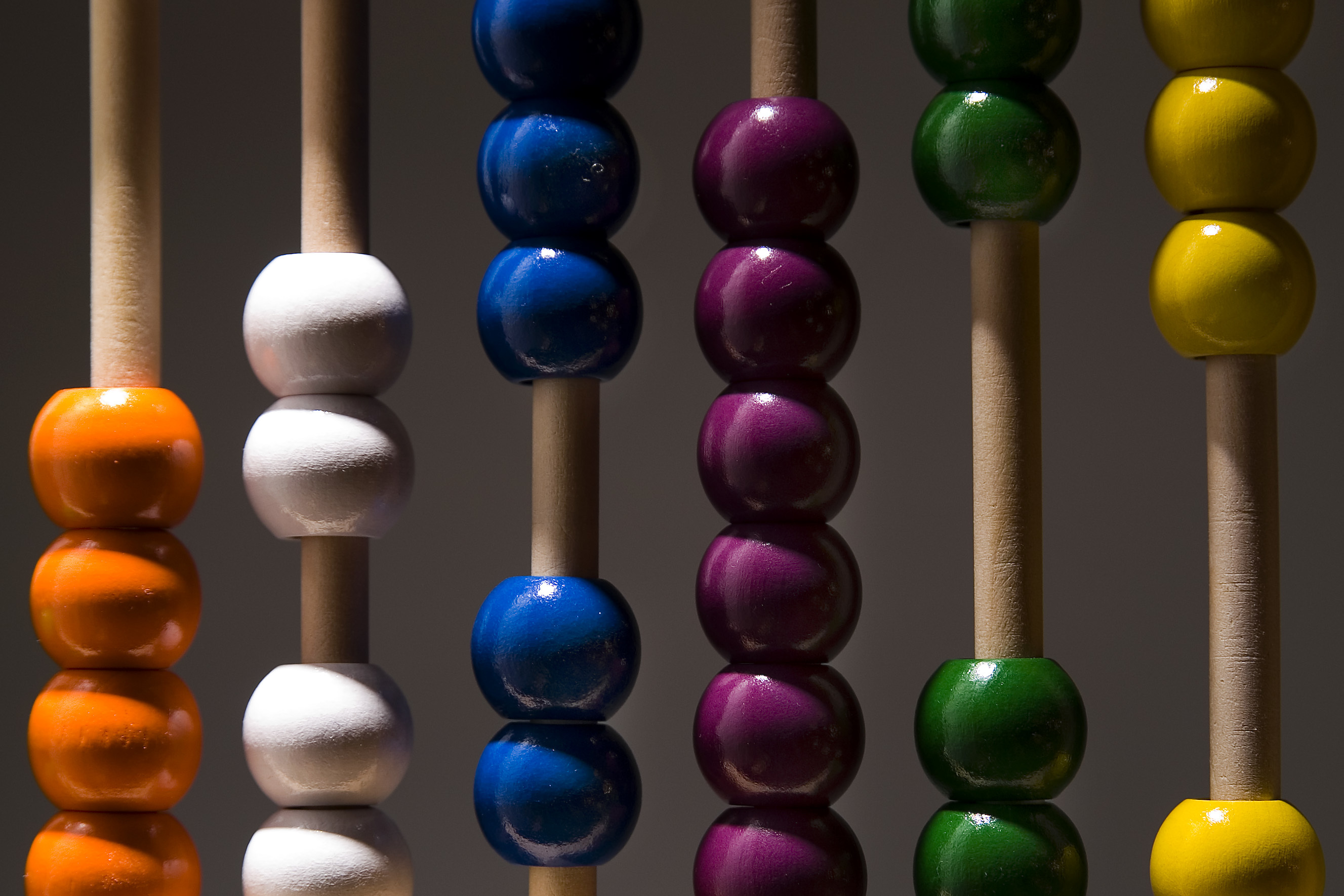 Colourful abacus beads