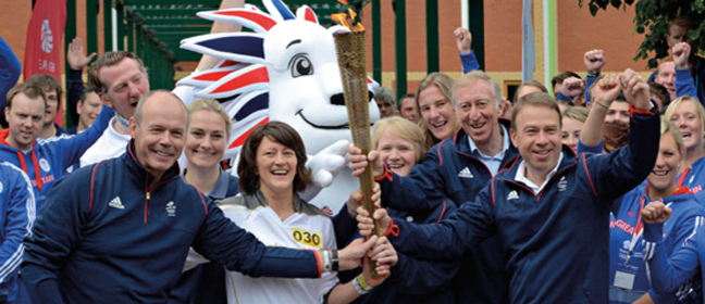 Olympic torch in Loughborough