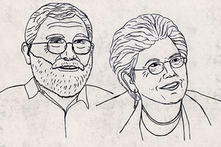 Illustration of James J. Sosnoski and N. Katherine Hayles