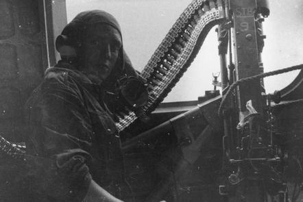 The practical side of war - a gunner in a Sunderland