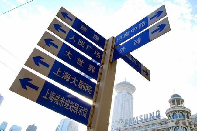 Sign of Chinese sign post