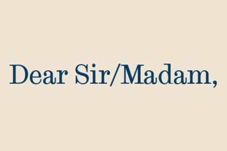 "A graphic reading ""Dear Sir/Madam"""