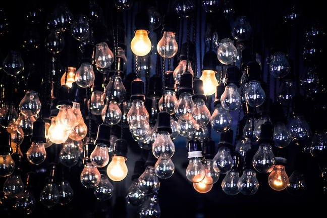 a number of lightbulbs representing ideas
