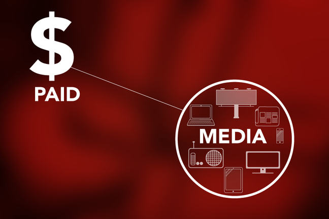 Image of a dollar sign and selected media