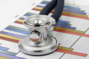 Stethoscope on charts