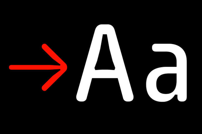 The letters Aa in the typeface Sys by Fabrizio Schiavi