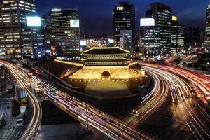 Korean history - the Korean capital city at night