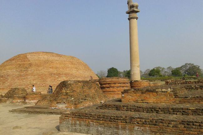 one of King Ashoka's pillars